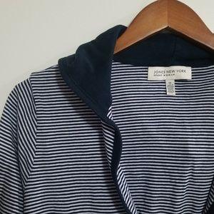 Jones New York Striped Hooded Shirt Size 1X